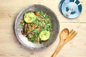 Meat Free Monday: Egyptian Roast Carrot & Avocado Salad