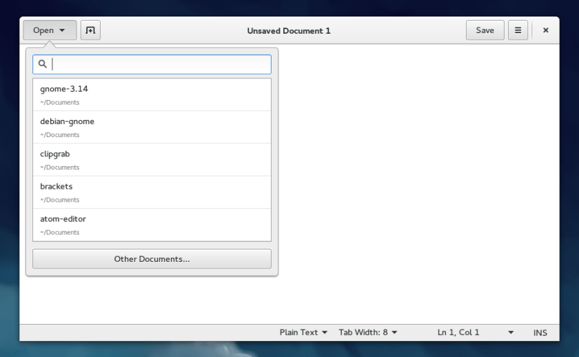 As you can see, Gedit is a very simple text editor.