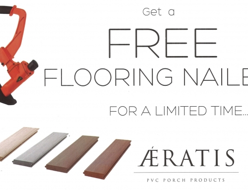 FREE Flooring Nailer with your next Aeratis Porch Flooring Purchase!