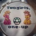 Kaylie-Jane's Two Girls, One Up cross stitch