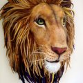 Richard Hannah needle felted Aslan