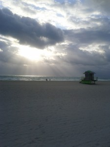 Running on Miami Beach