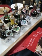 Tasting balsamic vinegar at Salone del Gusto