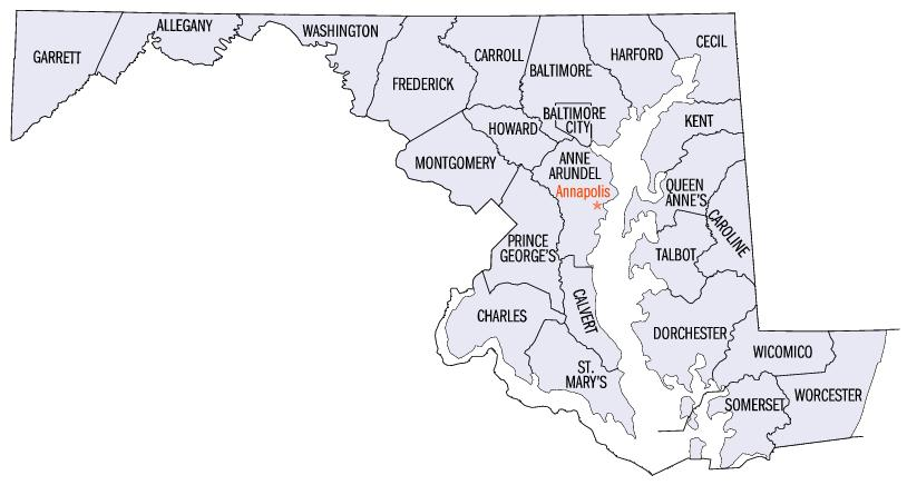 ... Worchester County Public Schools · Map_of_maryland_counties-2
