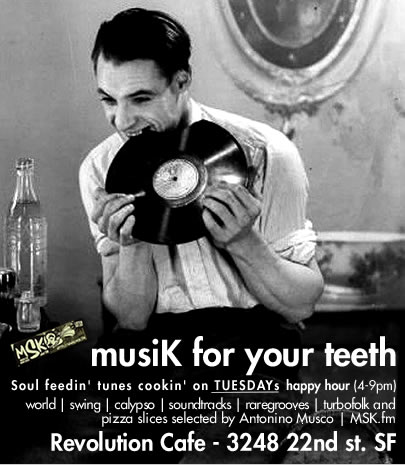 flyer for Musik for your teeth