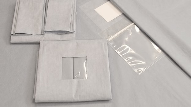 Product options:  <br/>Plain Drapes with and without tape; <br/>Fenestrated drape adhesive; <br/>Perforated cover system with aperture and incision film; <br/>Cover system with opening, incision film and separate draining pouch; <br/>Integrated cover system with opening, incision film and draining pouch; <br/>Cover system integrated with opening, adhesive edge, incision film and draining pouch; <br/>Cover system with opening, incision film and draining pouch; <br/>Cover system with opening, incision film, draining pouch and pliable strips; <br/>Several formats and versions on request.  <br/><br/>Material variants:  <br/><br/>SMMS – NON-WOVEN <br/>Material: PP spun-bond 4-layer; <br/>Features: Alcohol and fluid repellent, breathable, tear-resistant, low-linting.  <br/><br/>SOFTEX NON-WOVEN <br/>Material: 2-ply polyester / cellulose spun-lace; <br/>Features: Alcohol and fluid repellent, tear-resistant, hypoallergenic, good drapeage.  <br/><br/>BIPLEXNON-WOVEN <br/>Material: 2-layer PP / viscose fabric; <br/>Features: absorbent, liquid-resistant.