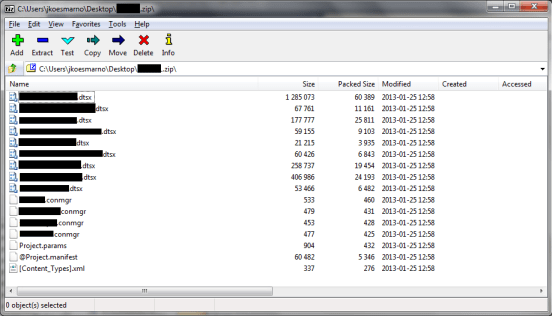 Browse zip file that was renamed from ispac