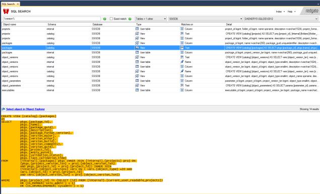 SQL Server 2012 SSIS - catalog.packages