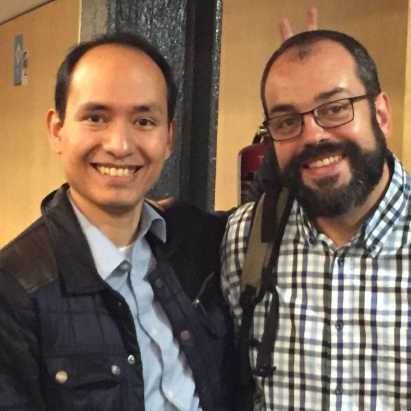 Con Óscar Toledo en la 48ª RU de Barcelona