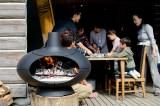 薪ストーブと薪割り・火おこし・ピザづくり焼き体験