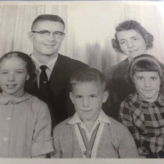 The photograph of our family published in the Pulaski Heights Christian Church newsletter announcing my father's arrival in Little Rock in early 1965.