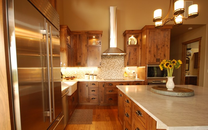 kitchen cabinets review local custom or semi custom manufactured affordable kitchen cabinets Local Custom built rustic walnut cabinets and Calacatta marble counters with oil rubbed bronze drawer pulls