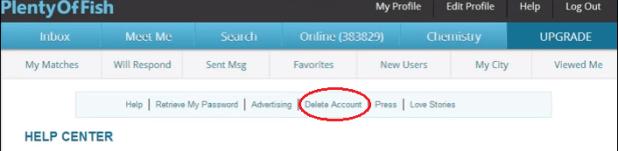 How to delete plenty of fish account delete pof account for Go to plenty of fish