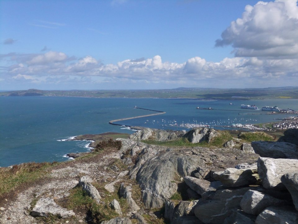 View from the summit towards Caergybi