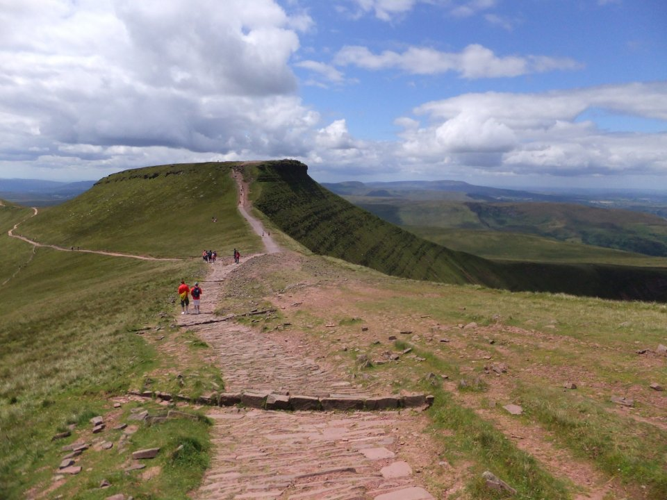 Looking towards Corn Du from Pen y Fan