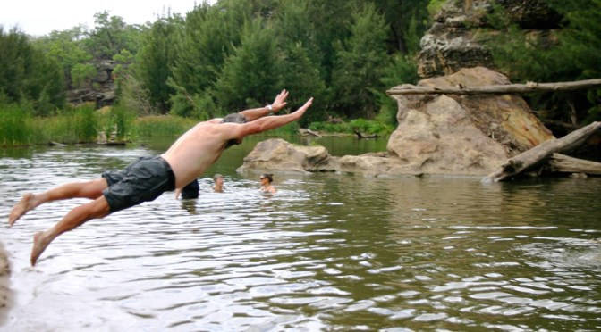 15 January 2017: Walk, Swim and Catch up at the Goulburn River National Park