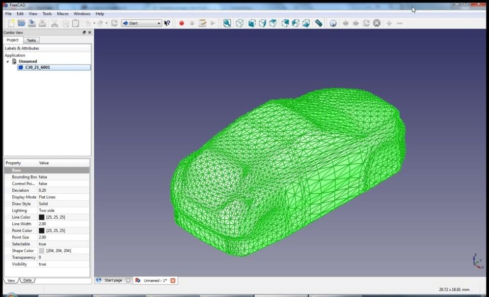 freecad, create cad model