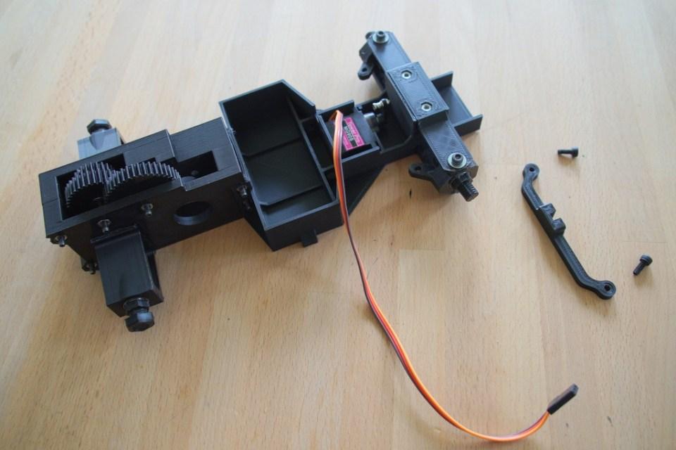 step 11, bolt steering to steering blocks