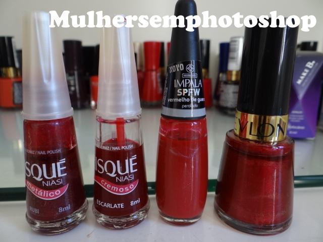Esmaltes mais usados - esmaltes vermelhos