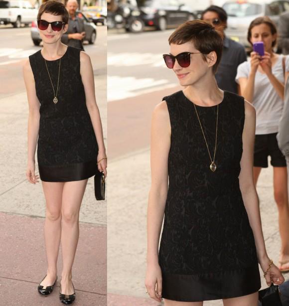 Anne Hathaway estilo - cabelo curto