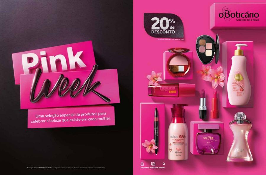 Promoção Boticário Pink Week - 20% de desconto