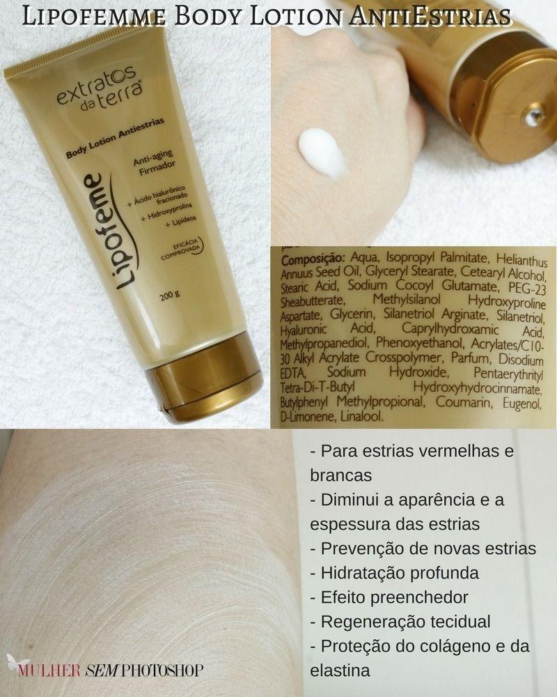 Lipofemme  body lotion antiestrias resenha