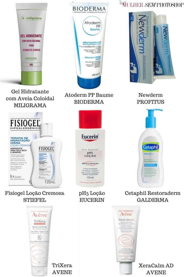Dermatite atópica - cremes hidratantes recomendados