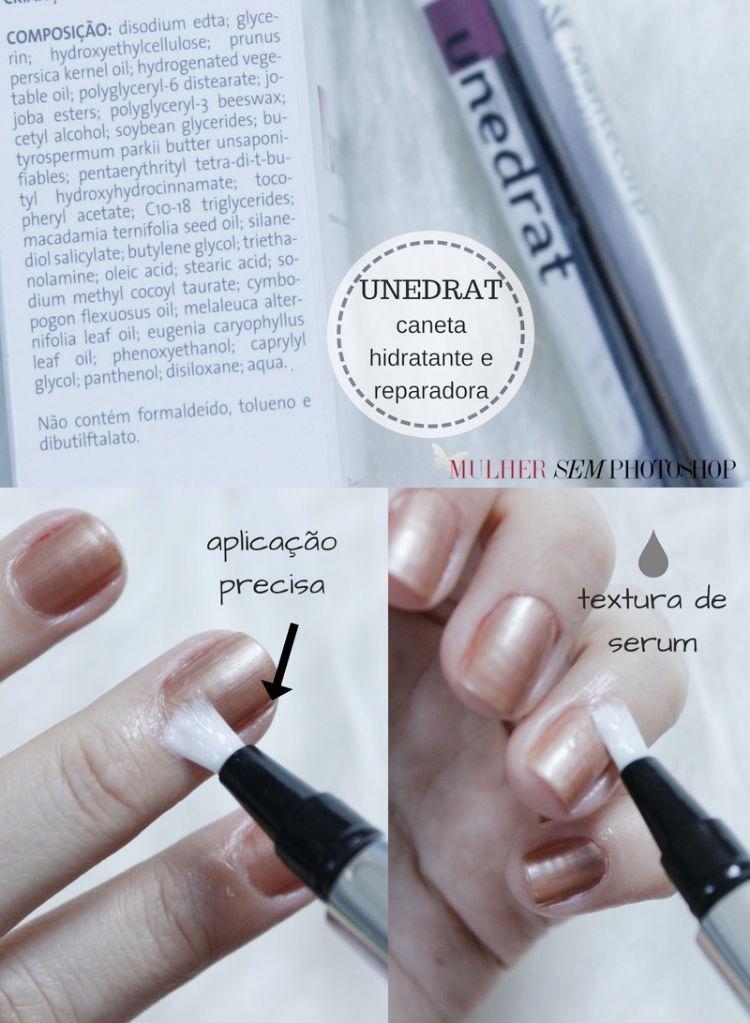 Unedrat caneta hidratante e reparadora para unhas e cutículas resenha Mantecorp