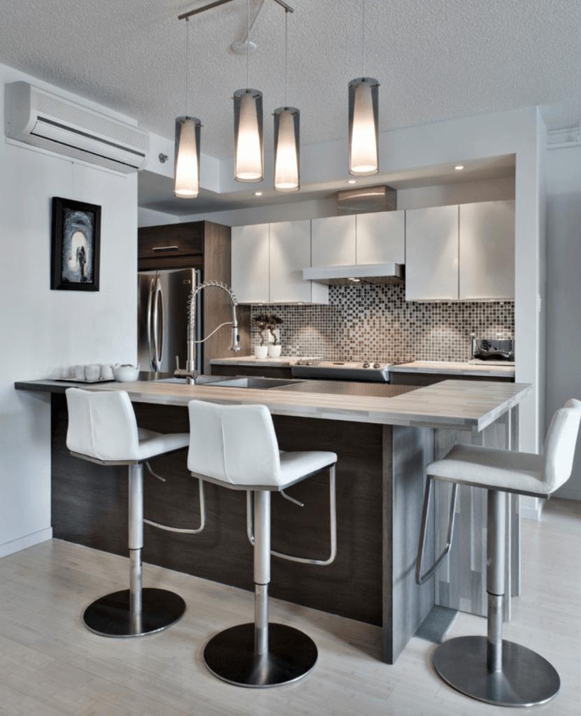 Cozinha Americana Com Sala De Jantar Integrada Com Cm De Na Divisa  -> Cozinha Integrada Com Sala De Jantar Pequena