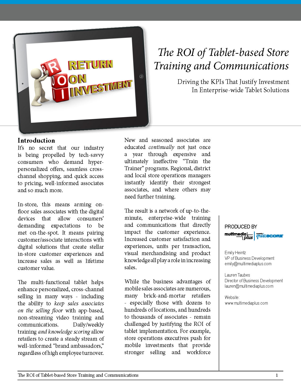 page template whitepaper15 04 10theroi page 1 multimedia plus inc
