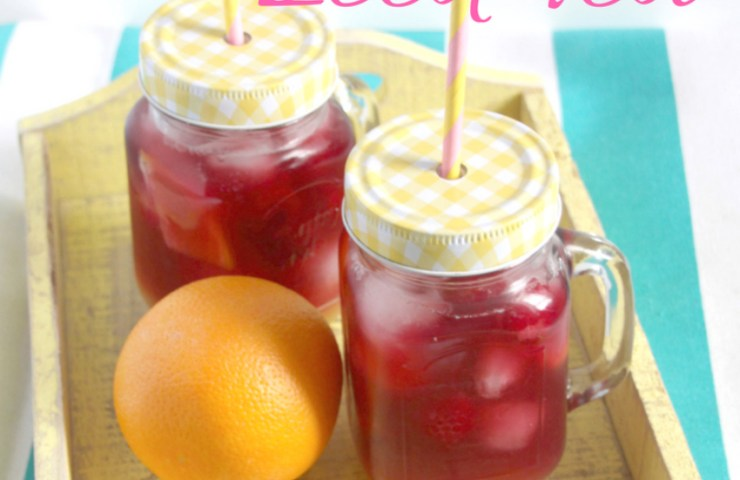 Fruity Raspberry and orange iced tea for all the family