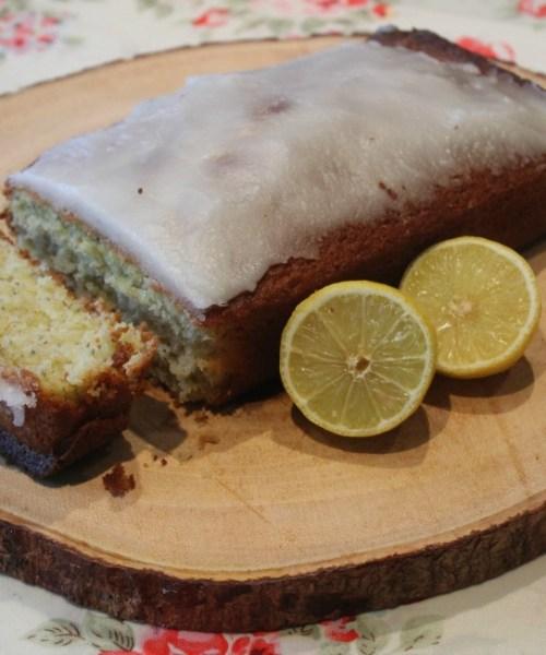 Lavender and lemon drizzle cake