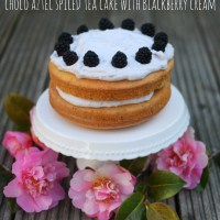 Choc Aztec Spiced Tea Cake with Blackberry Cream