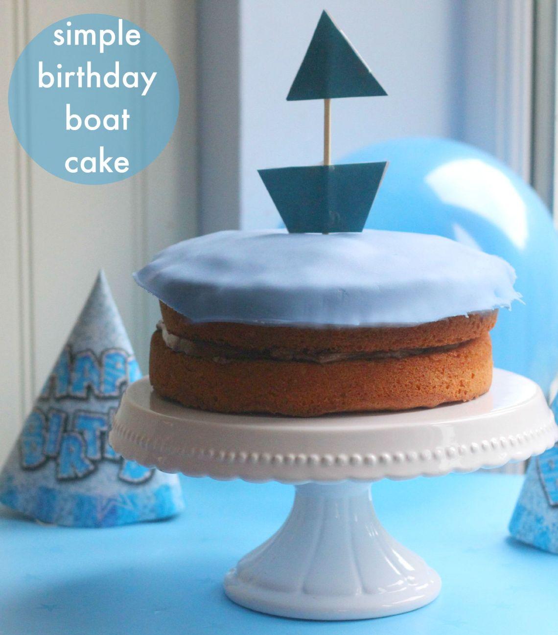 Cake Images Boat : Simple Birthday Boat Cake - mummy mishaps
