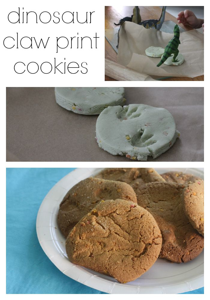 dinosaur claw print cookies