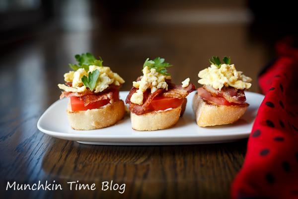 Tomato Bacon Egg Open Faced Sandwich Recipe #SandwichRecipe http://www ...