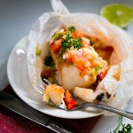 Oven Baked Alaskan Cod Parcels with Roasted Vegetables
