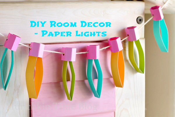 Diy kids room decor paper lights munchkin time for Room decor out of paper