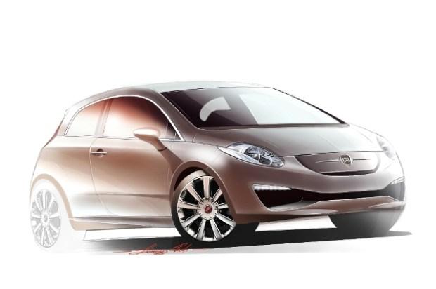 Fiat Grande Punto 2013 render