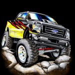 3-Mickey Thompson Ford F-150 para el  SEMA