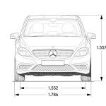 33-Mercedes-Benz B-Class, B 200 CDI BlueEFFICIENCY, dimensiones