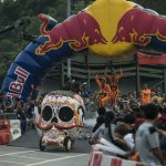 Competitors perform during the Red Bull Soap Box Race in Sha Tin, Hong Kong on October 14, 2012 // Andy Jones/Red Bull Content Pool // P-20121018-00003 // Usage for editorial use only // Please go to www.redbullcontentpool.com for further information. //