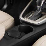 Cup holders in the all-new Ford Escort, which is unveiled at Auto China 2014