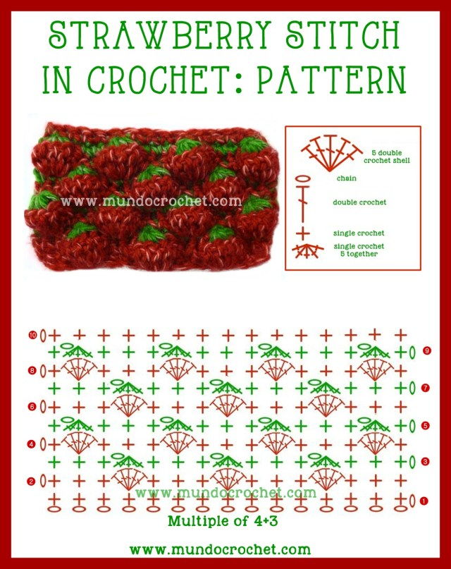 Crochet strawberry stitch