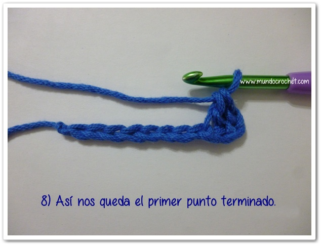 Punto medio vareta inclinado o herringbone half double crochet8