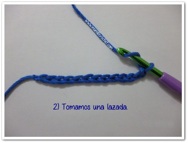 Punto vareta inclinado o herringbone double crochet2