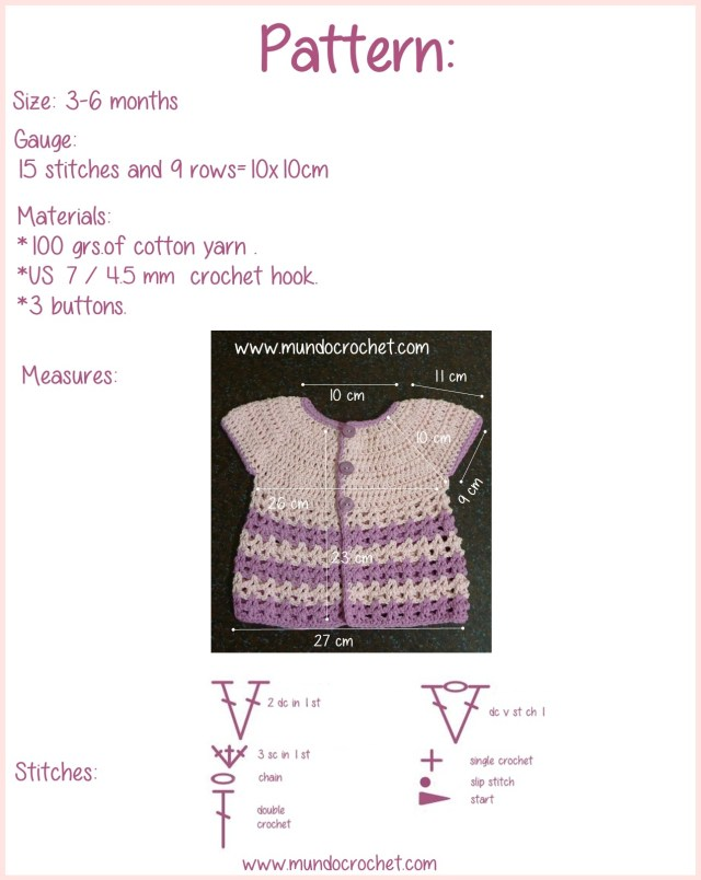 Round yoke baby crochet cardigan free pattern and tutorial2