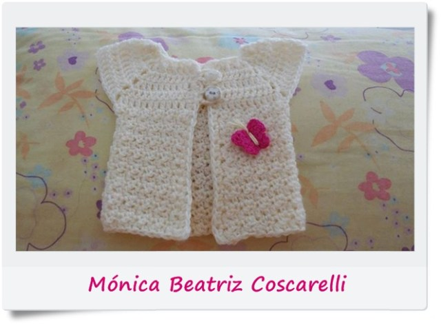 Campera, saquito, chambrita, chaleco crochet o ganchillo4