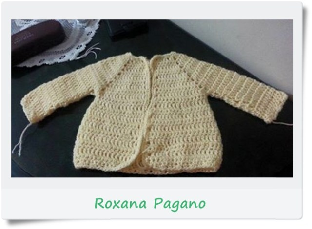 Campera, saquito, chambrita crochet o ganchillo3