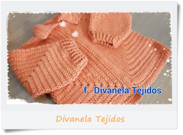 Campera, saquito, chambrita hexagonos crochet o ganchillo3